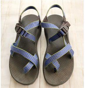 Chaco Z2 Womens Strappy Blue Walking Sandal 11
